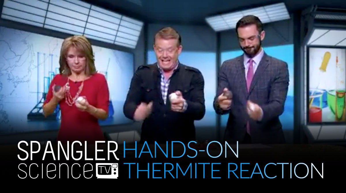 9News Hands-on Thermite Reaction with Steve Spangler