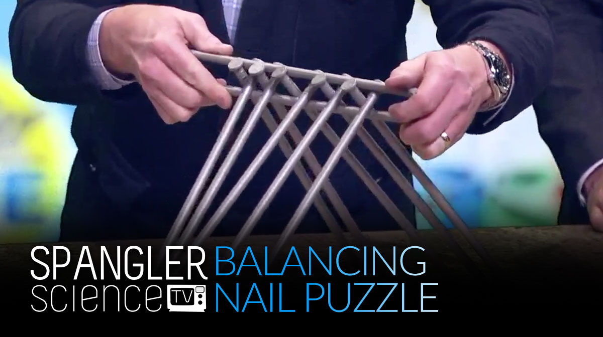 Balancing Nail Puzzle on 9News with Steve Spangler