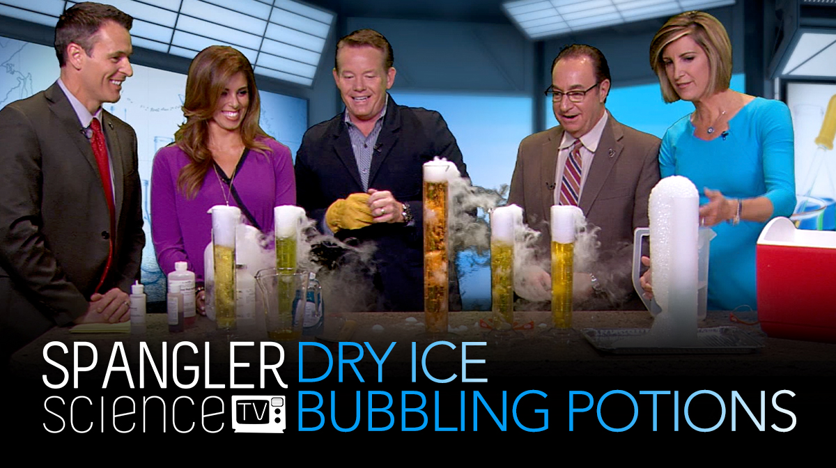 Steve on 9NEWS Dry Ice Bubbling Potions