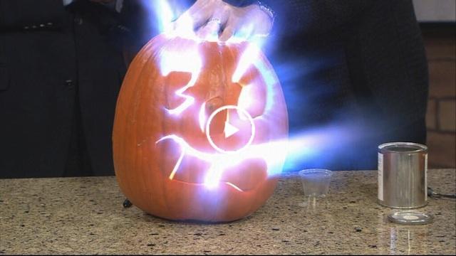 Exploding Pumpkins 9News