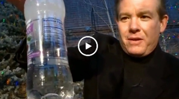 instant freeze water bottle science steve spangler on 9news