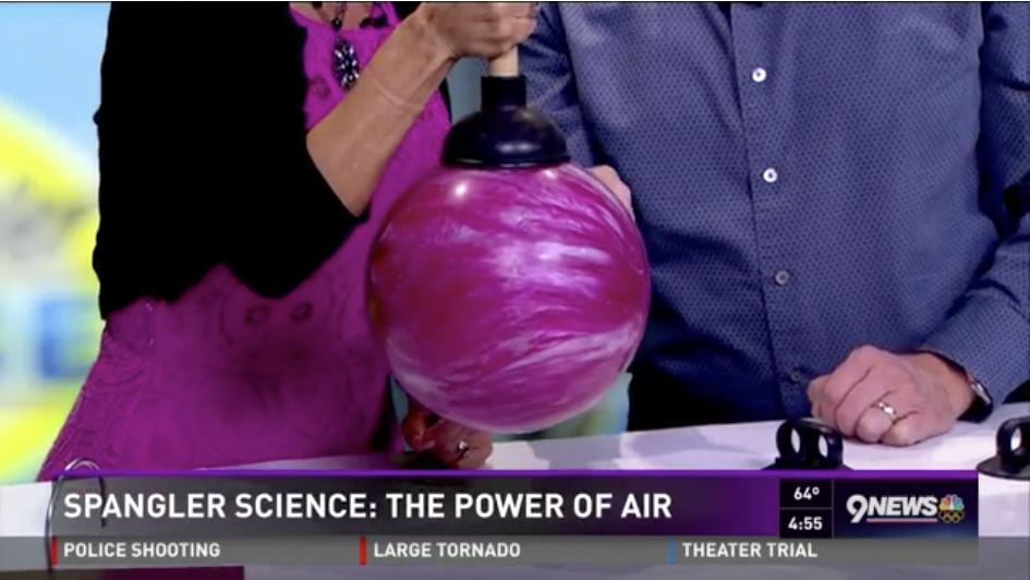 Steve Spangler and Kim Christiansen explore the Power of Air